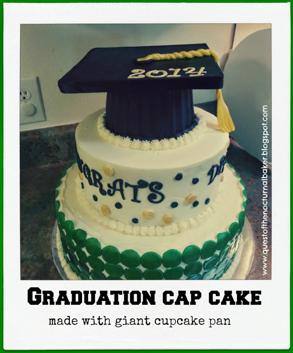 This Graduation Cap Cake is so easy to make!
