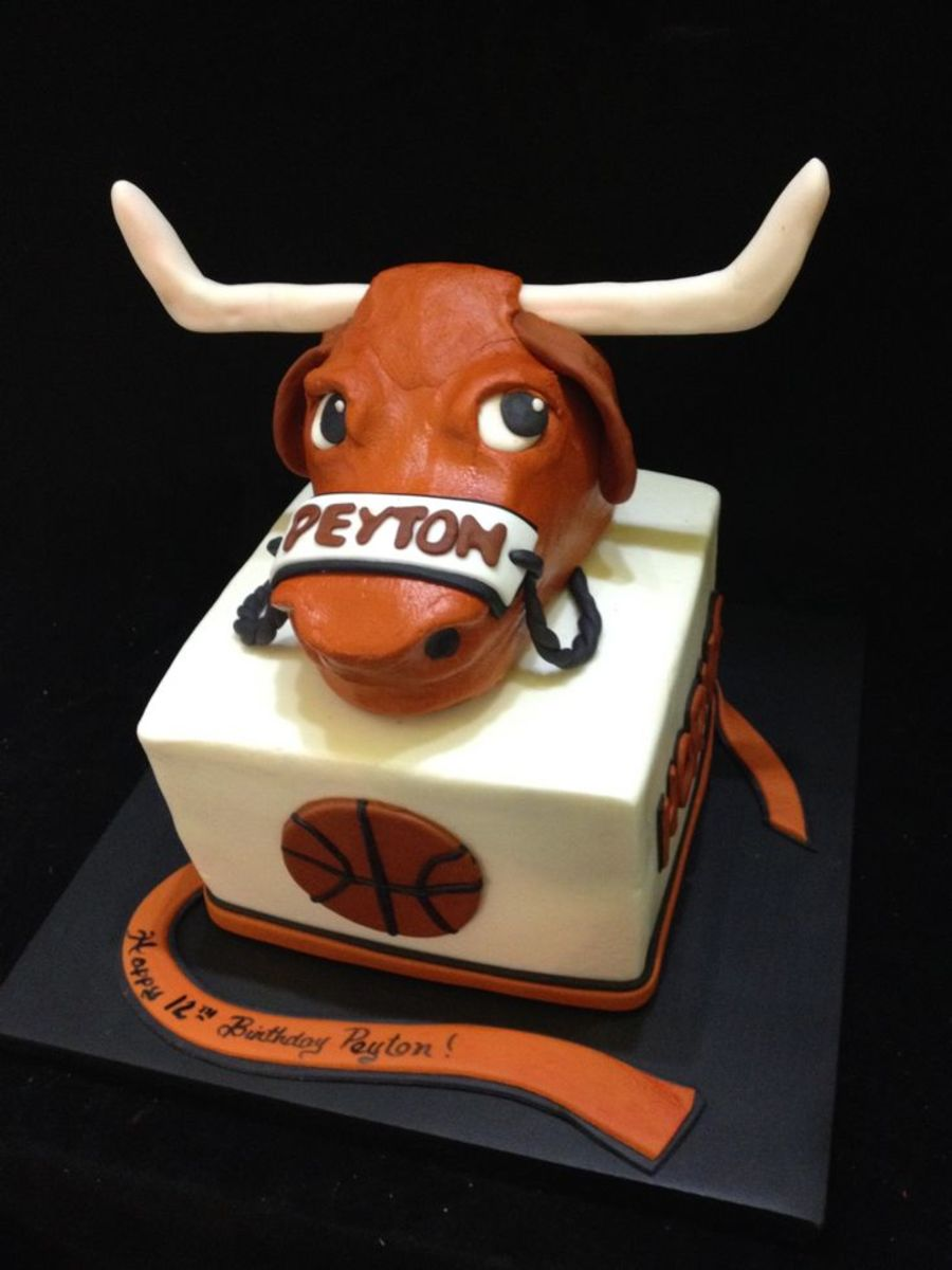 Found this picture on Pinterest.  Awesome example of a mascot graduation cake.  Genius!!!