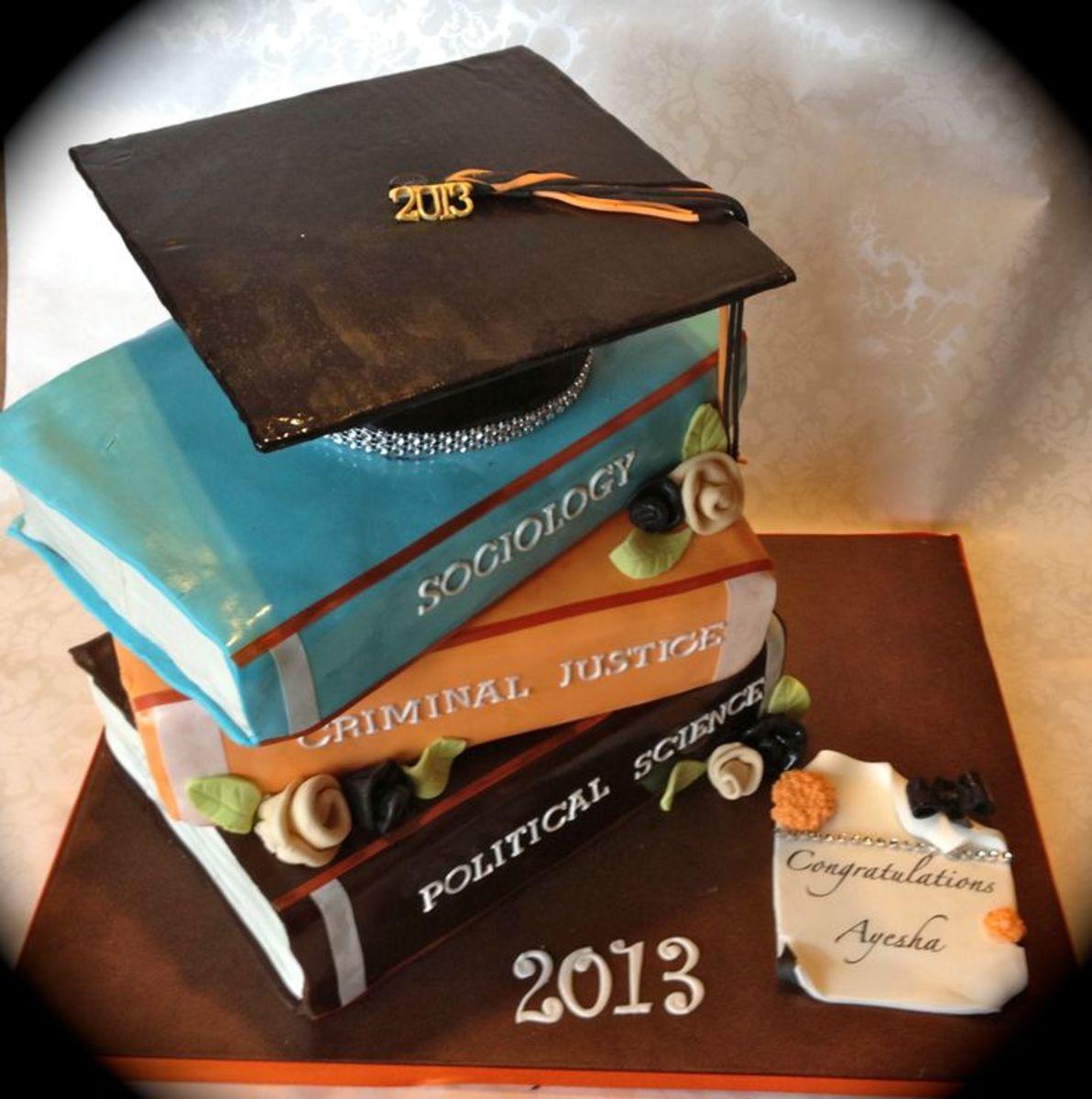 Graduation Book Cake example