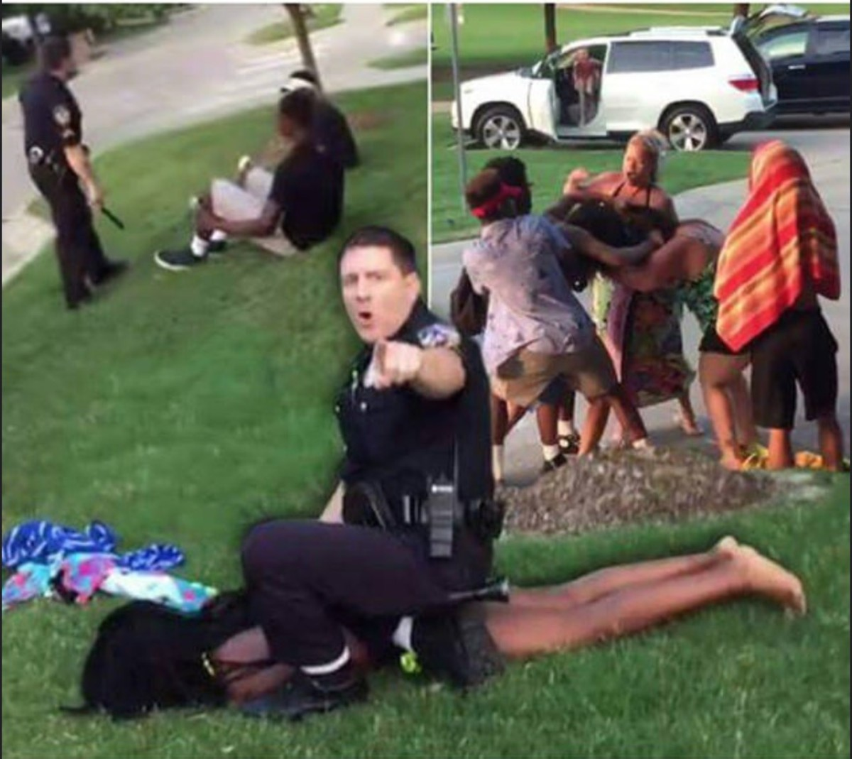 Out of control when called to a pool party in McKinney, Texas in June 2015.