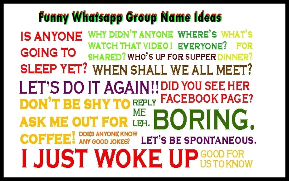 A funny whatsapp group names for friends