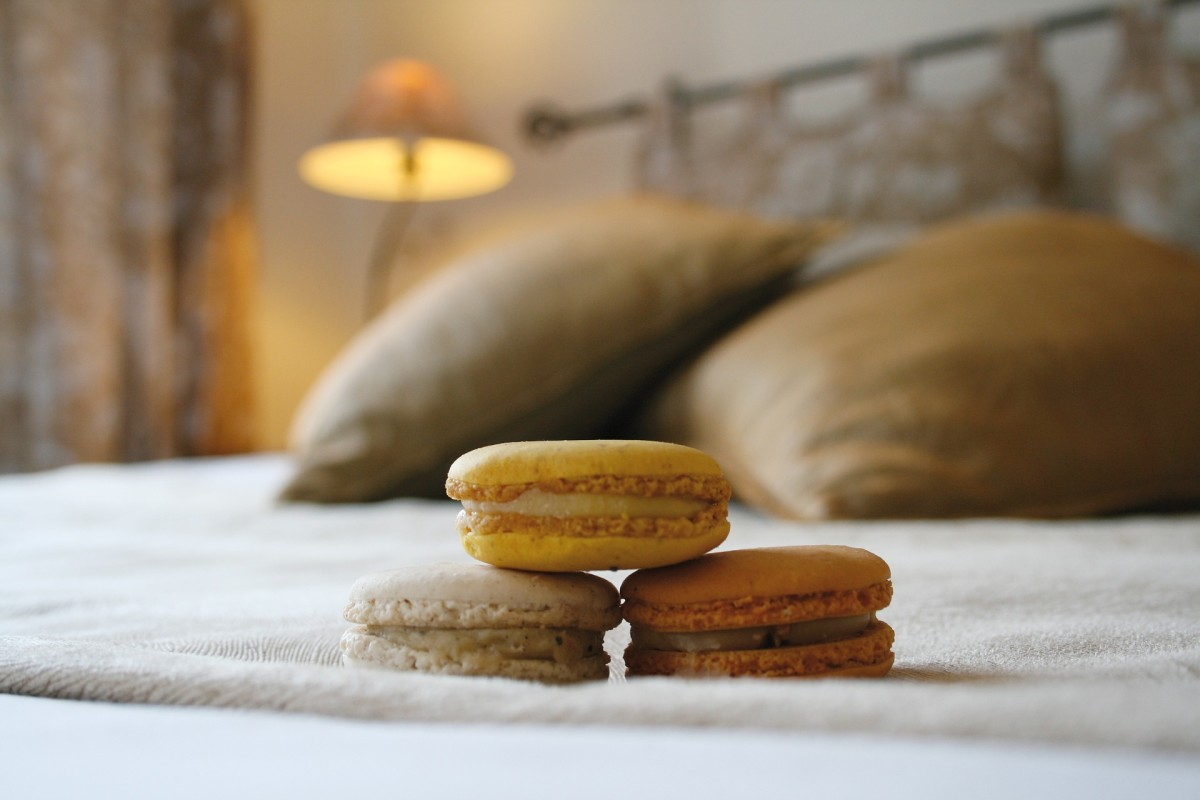 Close your eyes. You're now in this hotel being served chocolate macarons in bed.