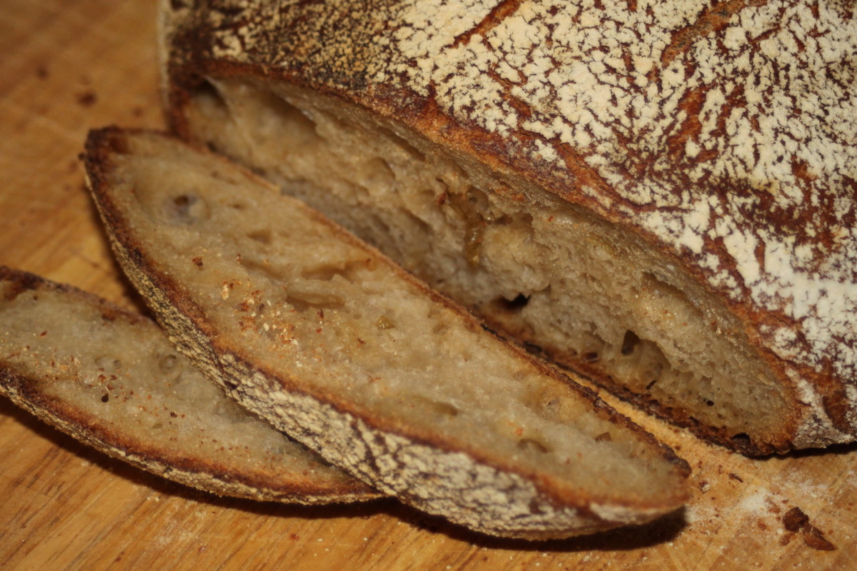Caramelized Onion Sourdough Bread