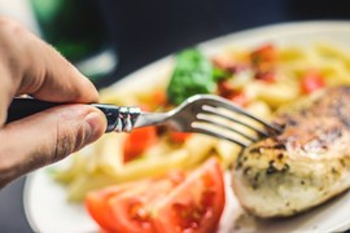 Western Culture focusses on a big portion of protein with a smaller portion of vegetable. Food is served individually and eaten with a knife and fork which reflects Western cultural values of individuality.