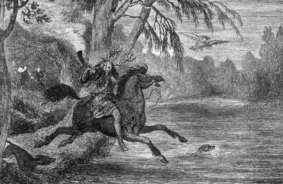 Herne the Hunter on his horse