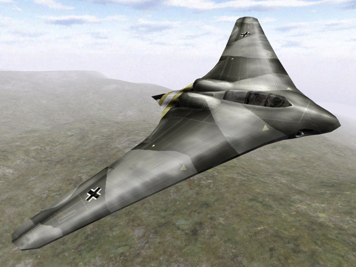 The Horton brothers Ho 299 stealth plane made of a wood composite. The Ho 299 was the world's first jet powered flying wing.