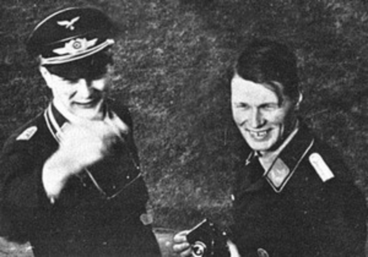 The Horten brothers: Walter (left) and Reimar (right) note the SS uniforms.