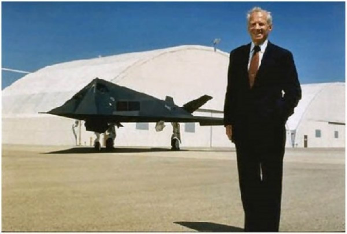 """Robert """"Ben"""" Rich joined Lockheed Skunk Works in 1954 and served as Kelly Johnson's chief engineer on the U-2 and the SR-71. In 1975, he succeeded Kelly Johnson as head of the Skunk Works, where he created the F-117A Nighthawk stealth fighter."""