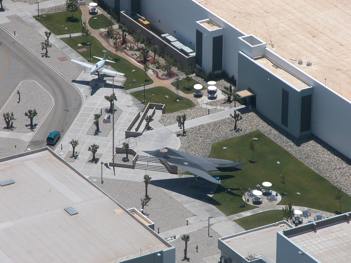 Entrance plaza at the Skunk Works near Burbank California