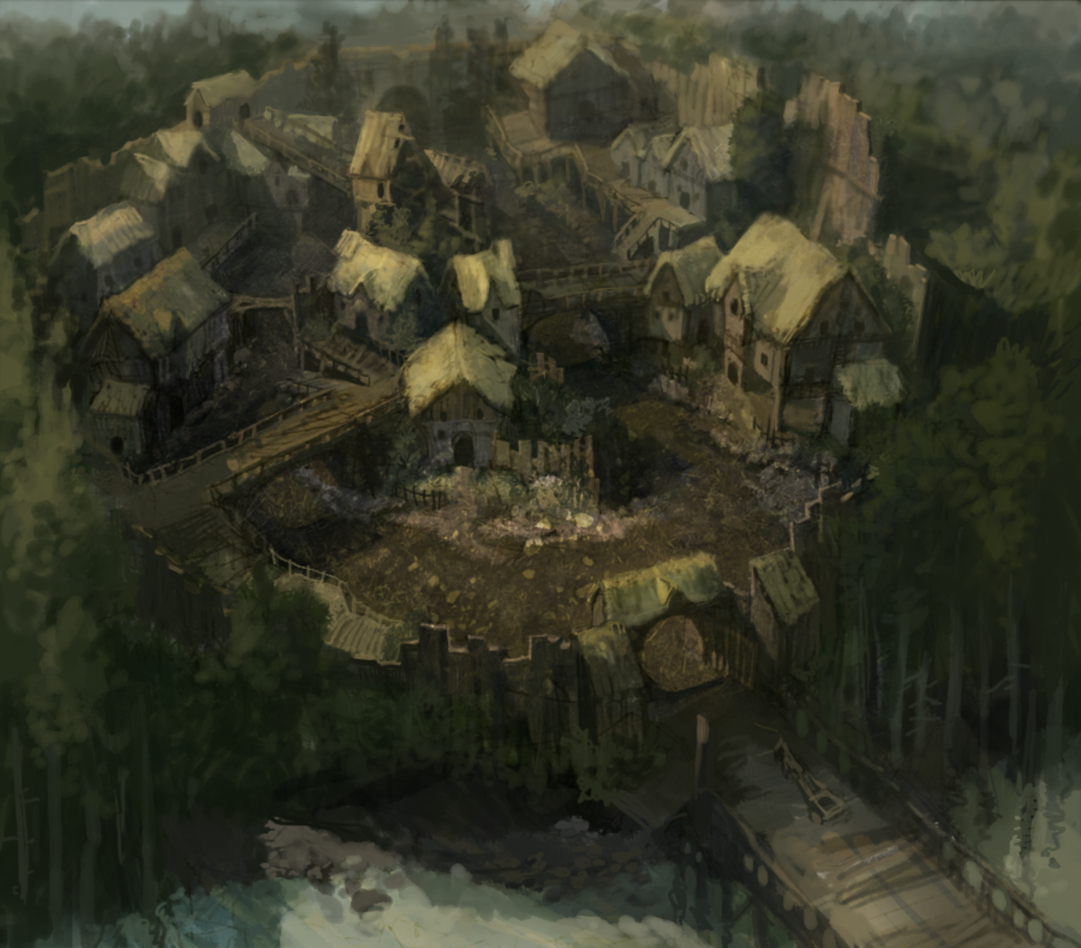 Dauper Village where Sasha grew up.