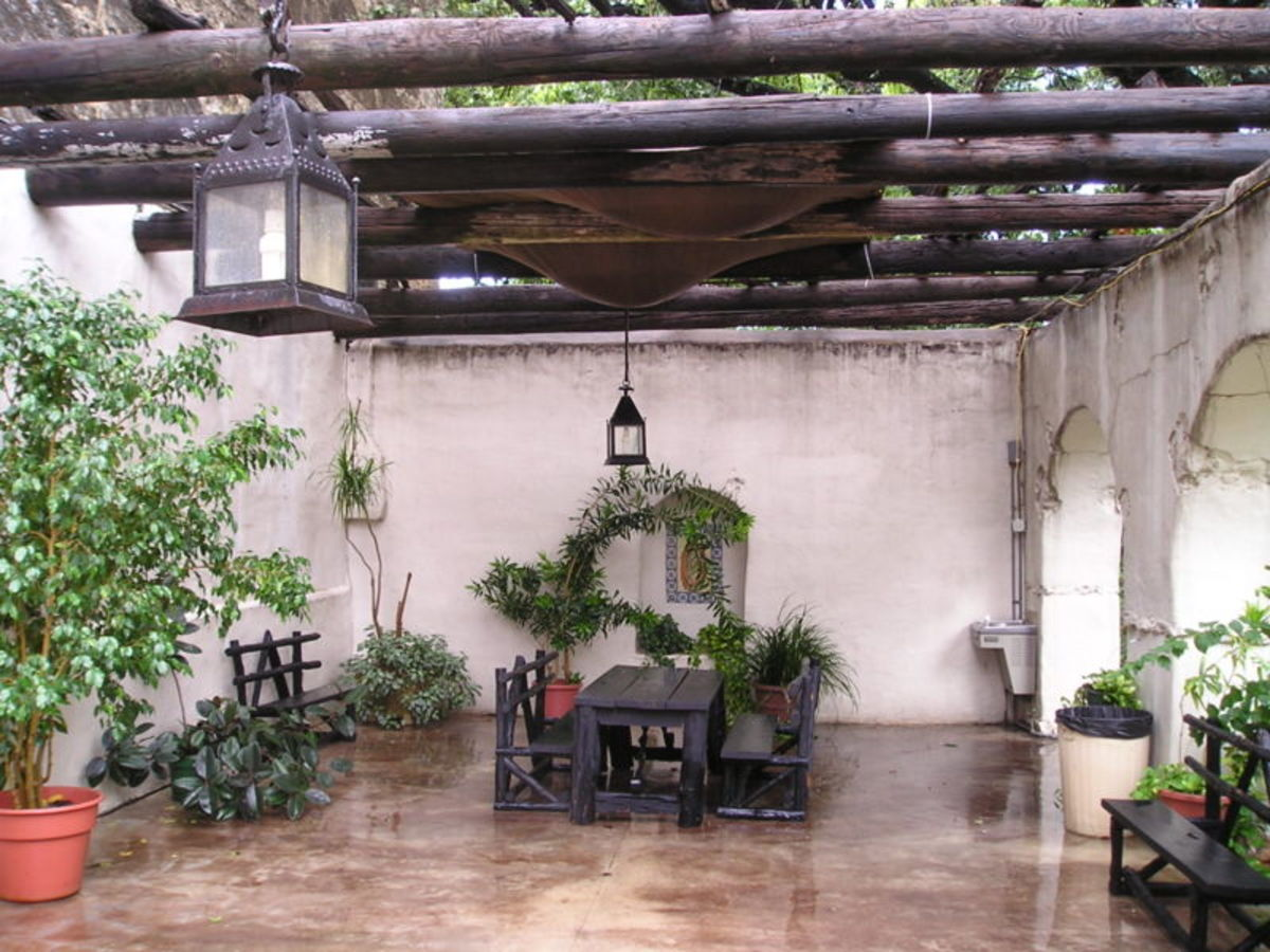 Inside of Spanish Govenors Palace in San Antonio, Texas. Built 1749