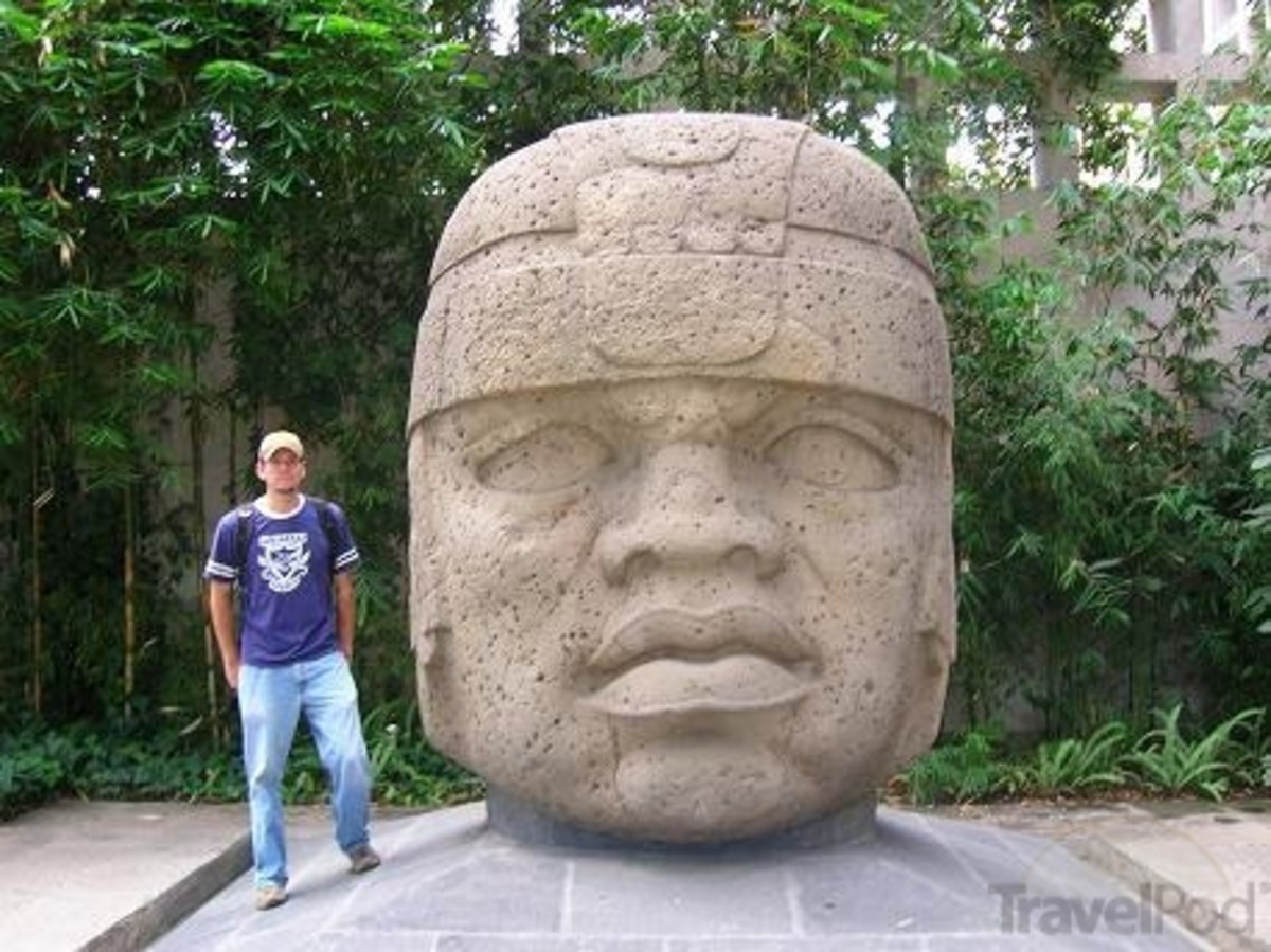 Massive Olmec Head
