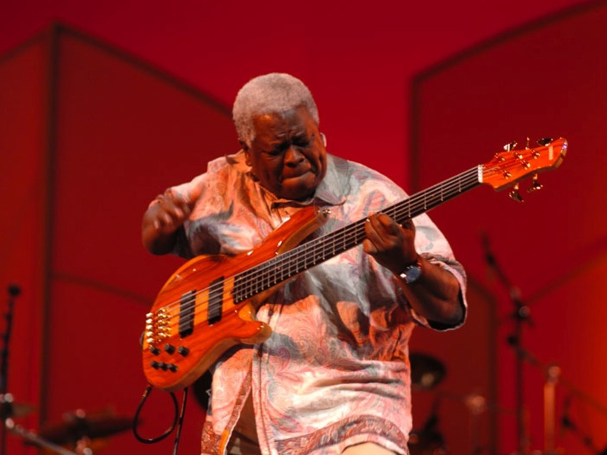 "Afro-Mexican Abraham-Laboriel-Sr ""The most widely used session bassist of our time"" according to Guitar Player magazine."