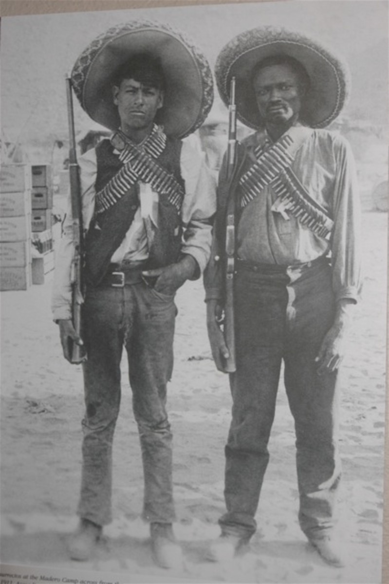 Afro-Mexican Soldier with a Mexican Soldier friend..
