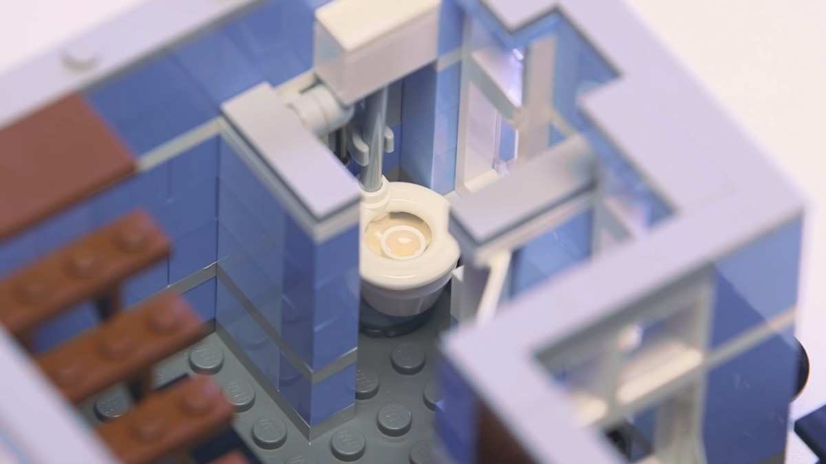 LEGO Creator Detective's Office Modular Building | The second floor. The bathroom.