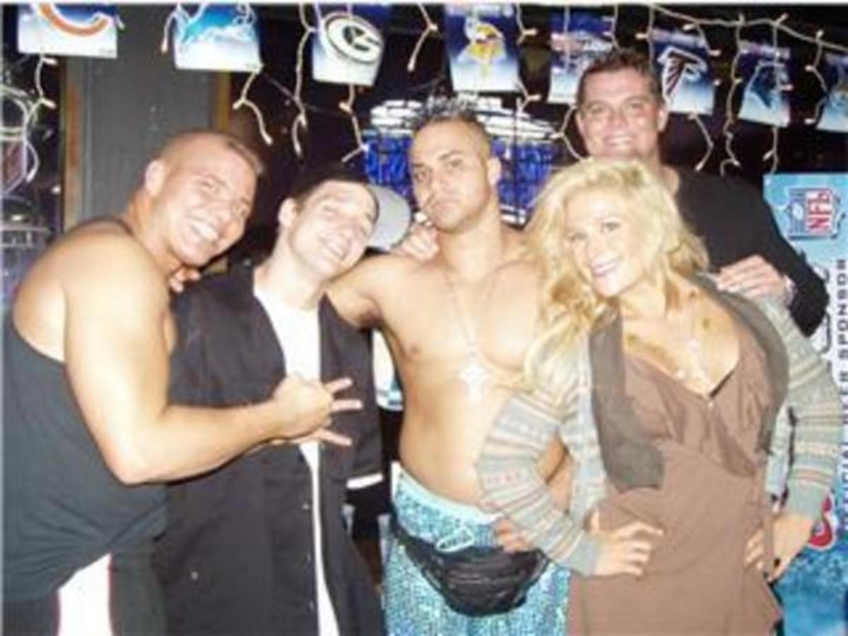 Tyson Kidd, Jack Evans, Teddy, Harry Smith and Natalya