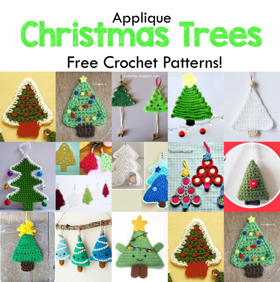 15 Free Christmas Tree Applique Crochet Patterns Hubpages