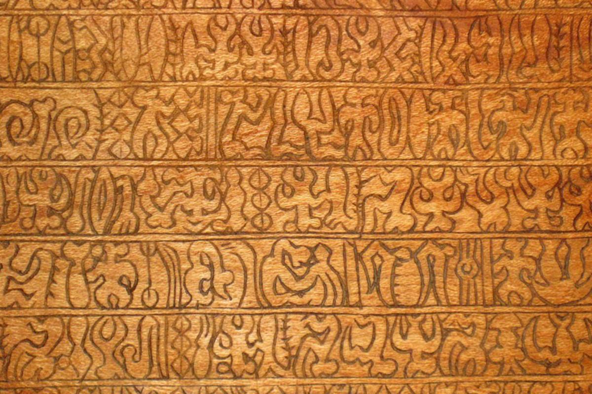 Sample of Rongorongo