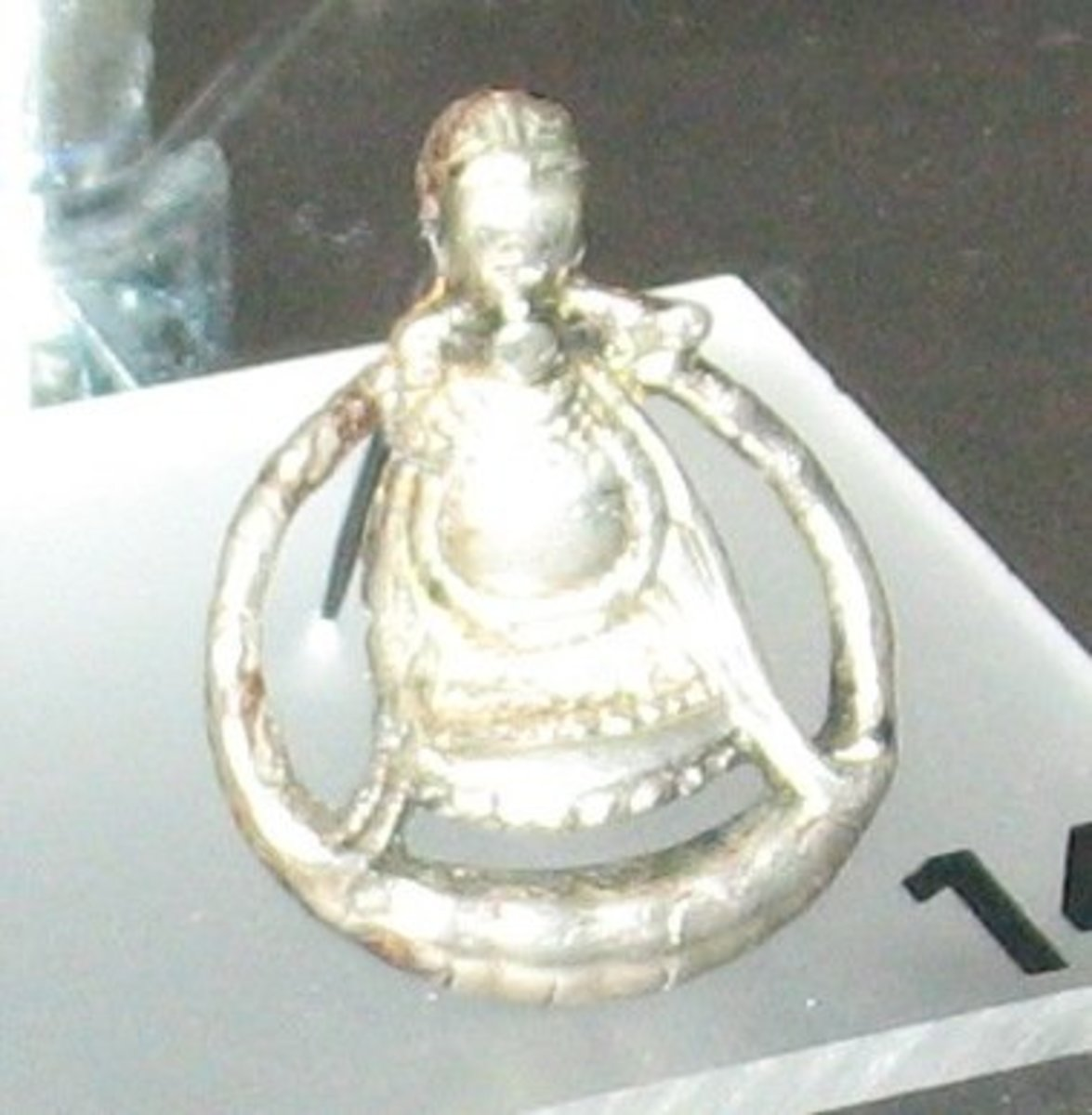 A Viking period silver amulet of the Norse goddess Freyja found in Aska in Hagebyhöga parish, Aska hundred, Vadstena municipality, Östergötland, Sweden.