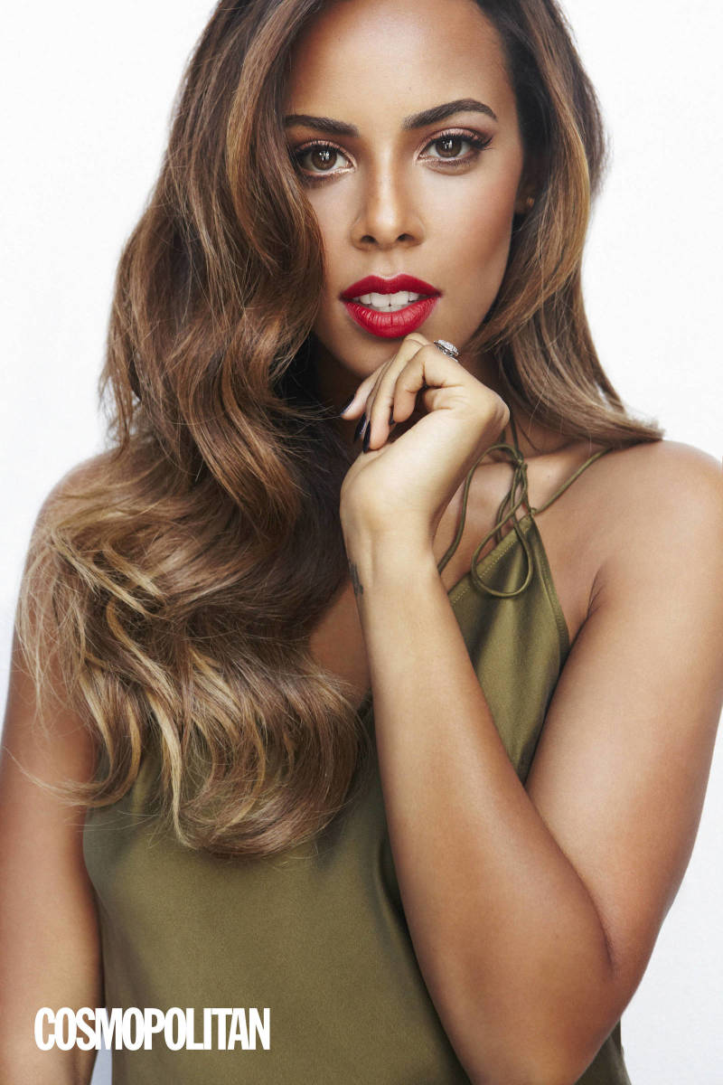 Rochelle Humes showing her stunning beauty in this photo shoot for Cosmopolitan Magazine in October 2014.