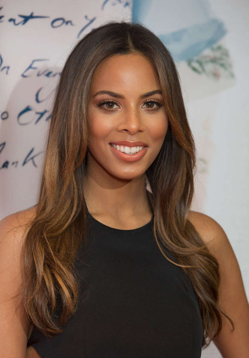 Rochelle Humes after she had a nose job done.