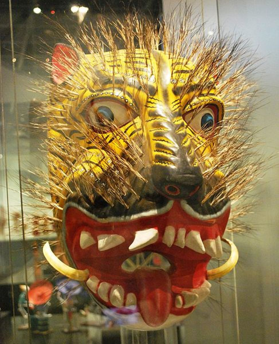tiger/jaguar mask