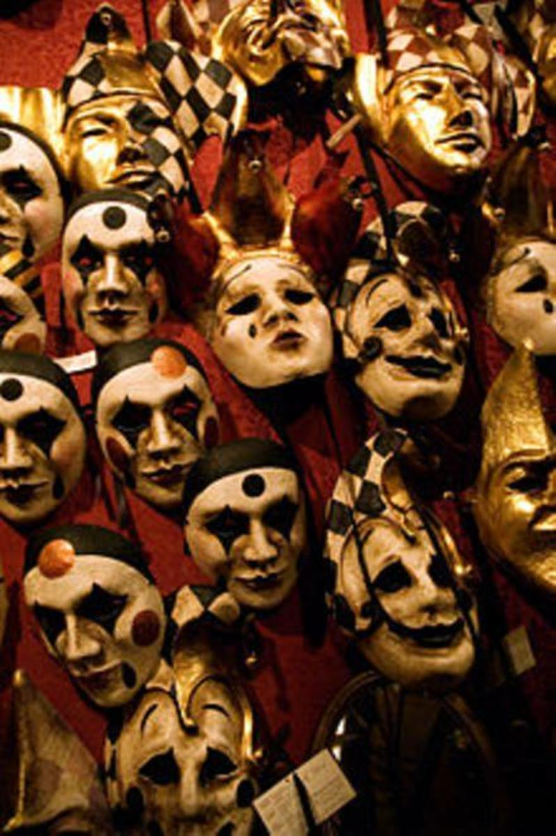 Venice Carnival masks are popular at Mardi-Gras Festival, New Orleans