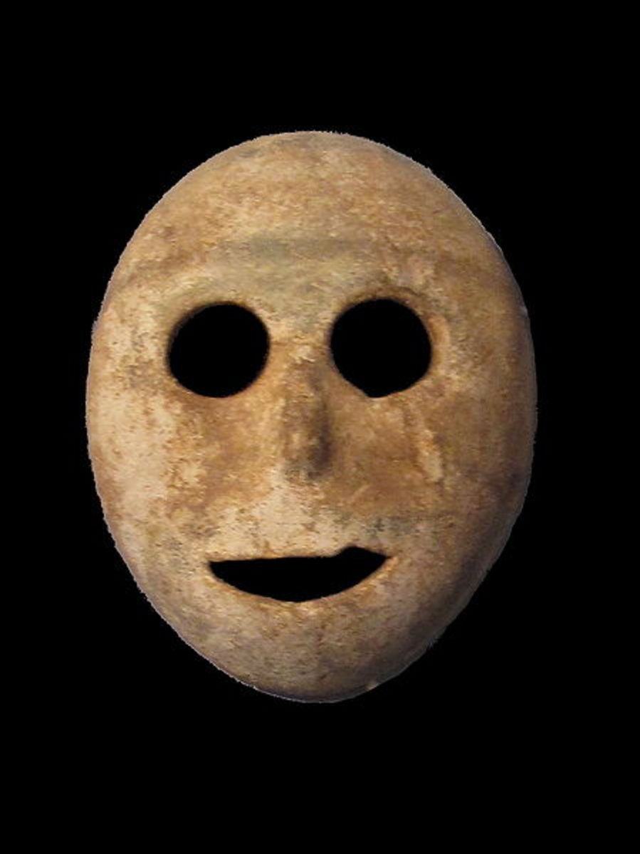 Stone mask is considered oldest mask in recorded history, discovered in Palestinian area of Israel