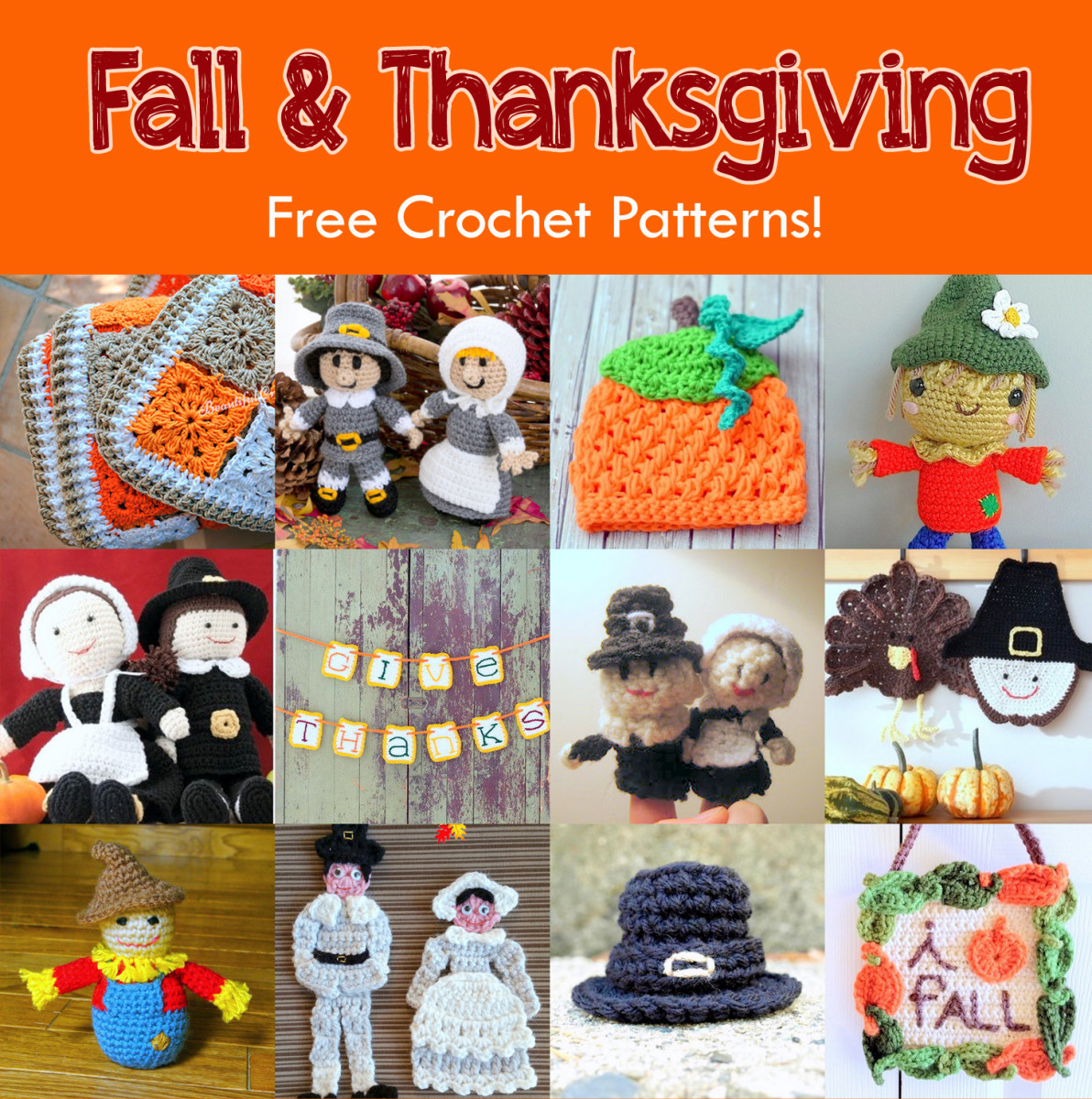 13 Free Fall & Thanksgiving Crochet Patterns