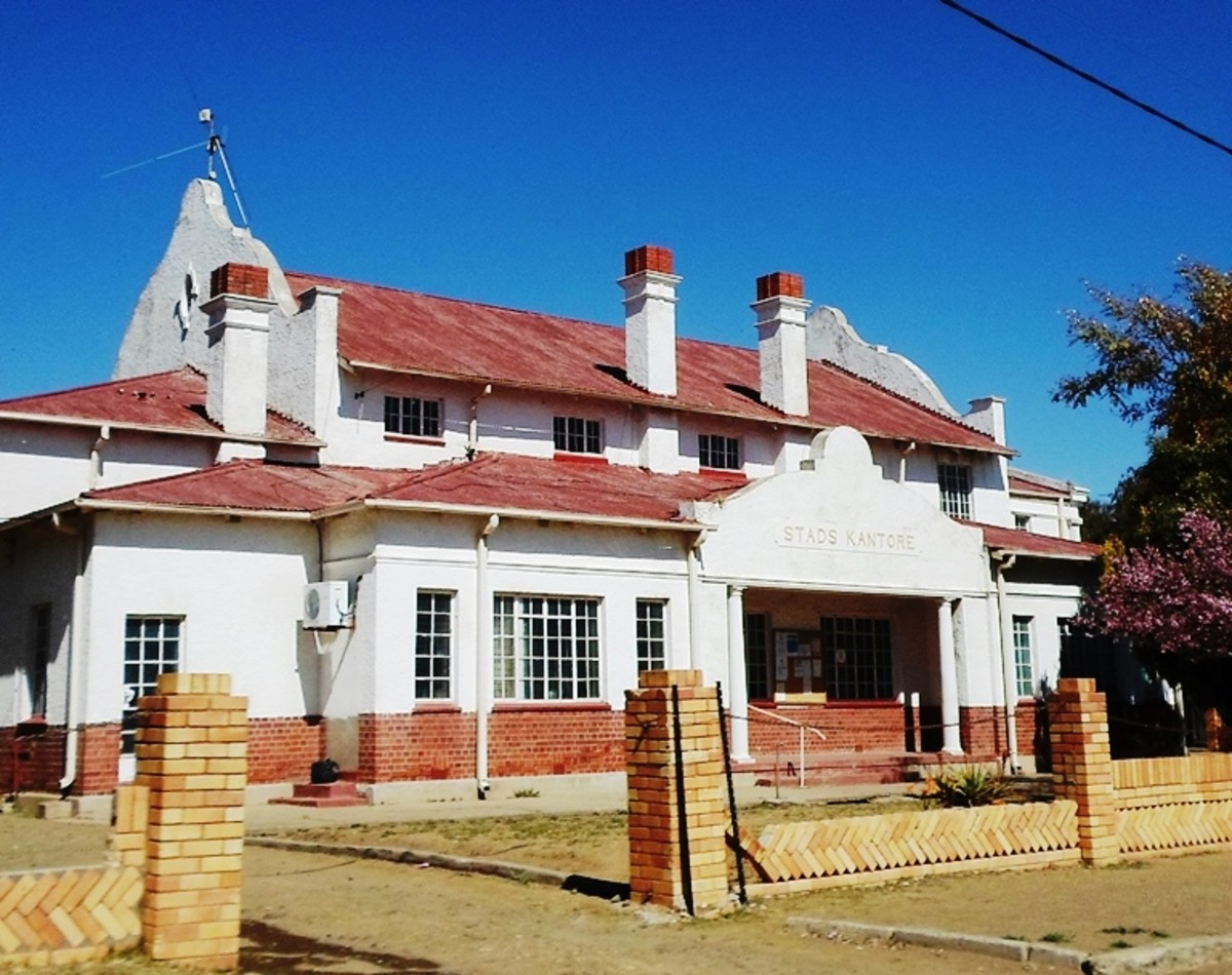 Town Hall Building, built in 1929, Steynsrus, Free State, South Africa