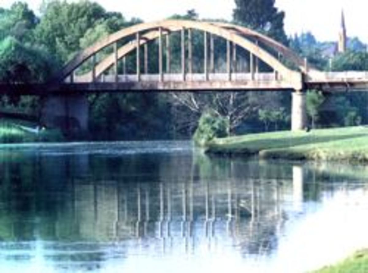 Sarel Cilliers Bridge over the Vals River in Kroonstad, Free State, South Africa