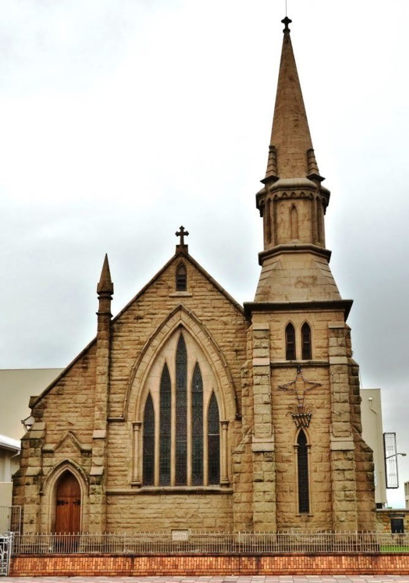 St John's Methodist Church, erected in 1875, Kroonstad, Free State, South Africa
