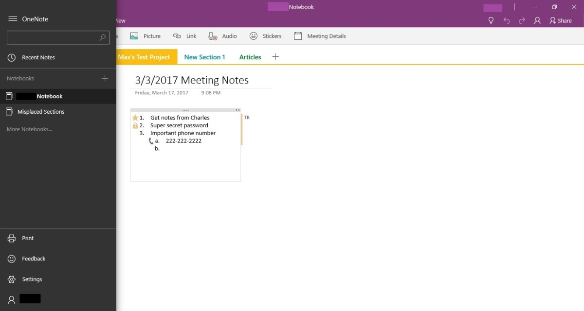 The notebook will be removed from OneNote, but you still need to delete it from your Microsoft OneDrive cloud storage.