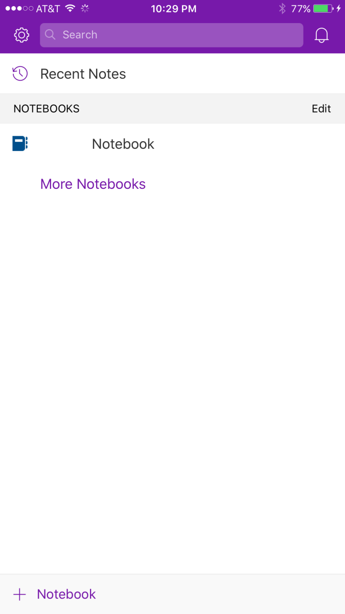 The notebook disappears from within the OneNote mobile app, but you now have to delete the notebook from where it's synced in OneDrive.