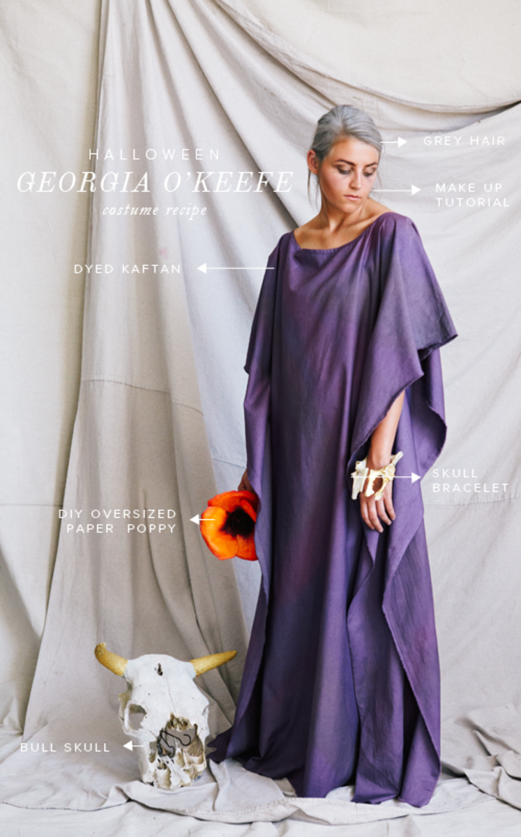 Georgia O'Keeffe Costumes Inspired By Art