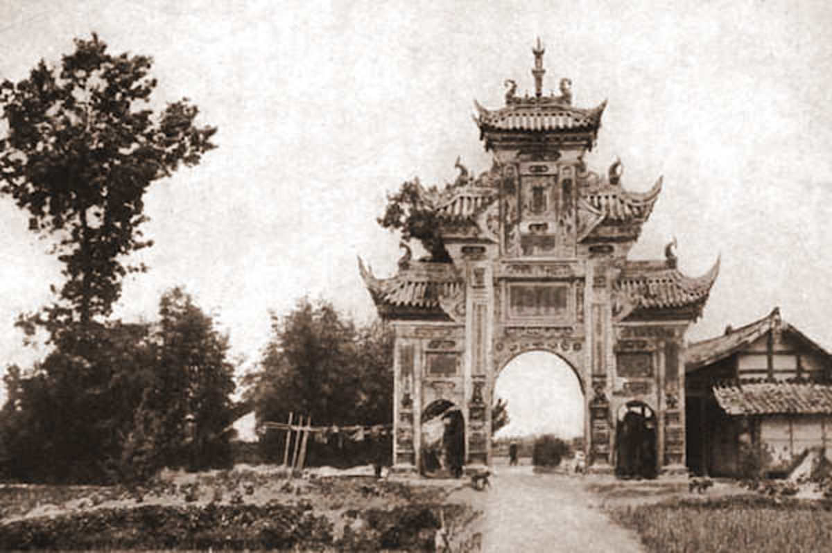 An Arch of Virtuous Widows, Confucian values carved into the very landscape.