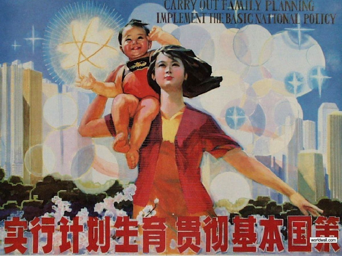 People don't seem to be much swayed into having more girls by propaganda posters.