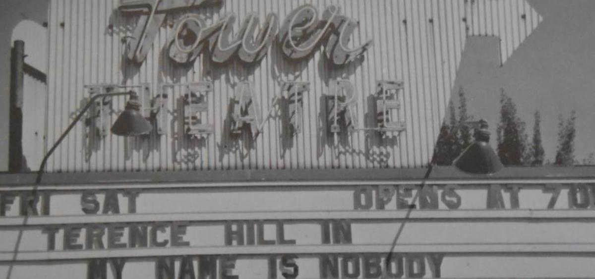The Old Sign for the Tower Drive In Theater
