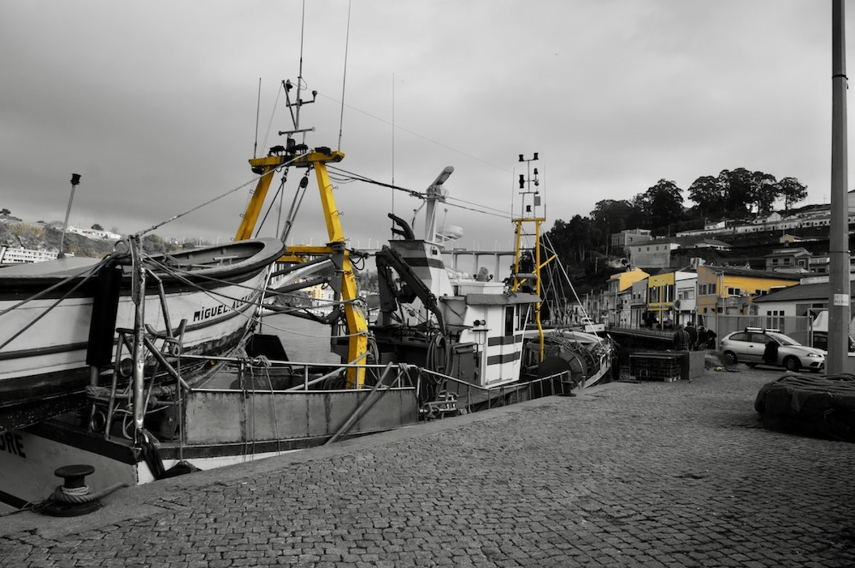 The Fishing Boats in the Afurtada Wharf