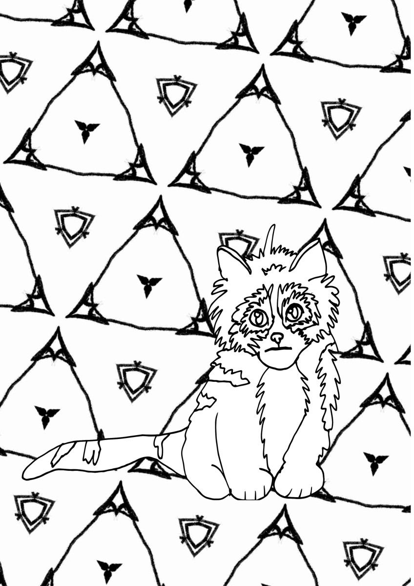Look at the cute little scruffy kitten in this printable coloring page! Just look at him!