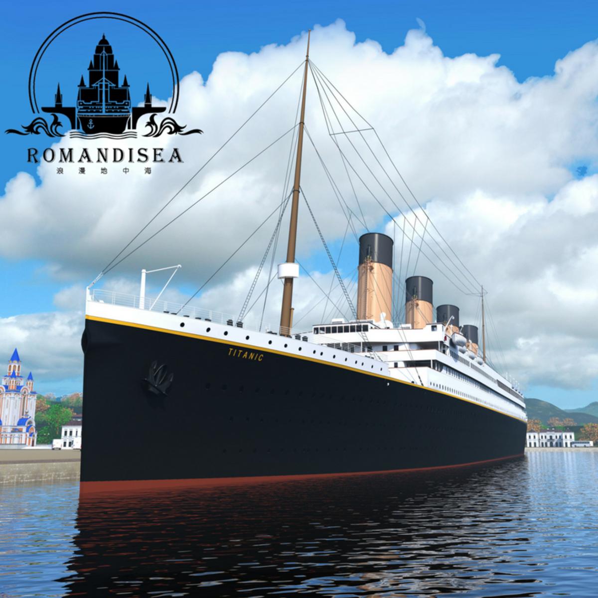 Romandisea Titanic CG rendering