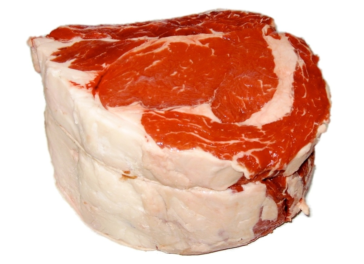 The future of cultured meat. A tender beef muscle complete with fat.