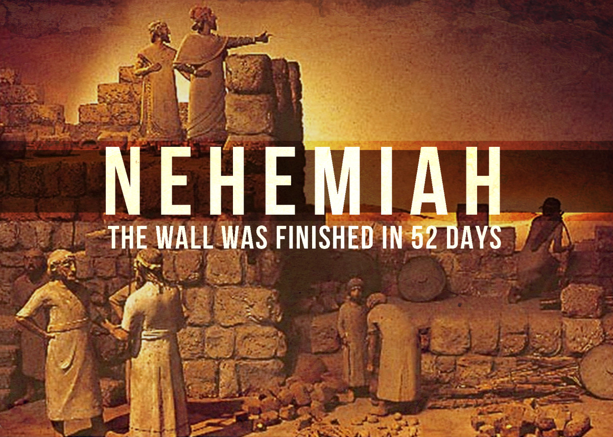 Nehemiah encouraged the workers who were discoured.