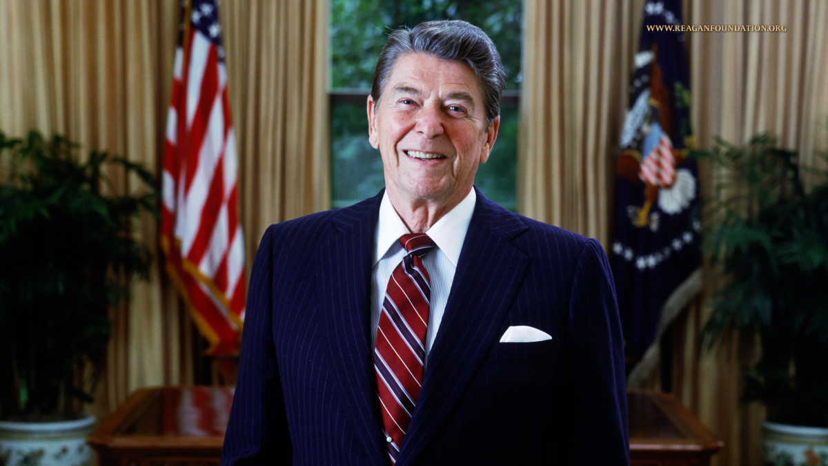 Ronald Reagan - The 40th President of the United States of America, a Conservative, he served (2) terms between 1981 and 1989. Prior to serving as President, he served as the Governor of California (2) terms from 1967 to 1975.