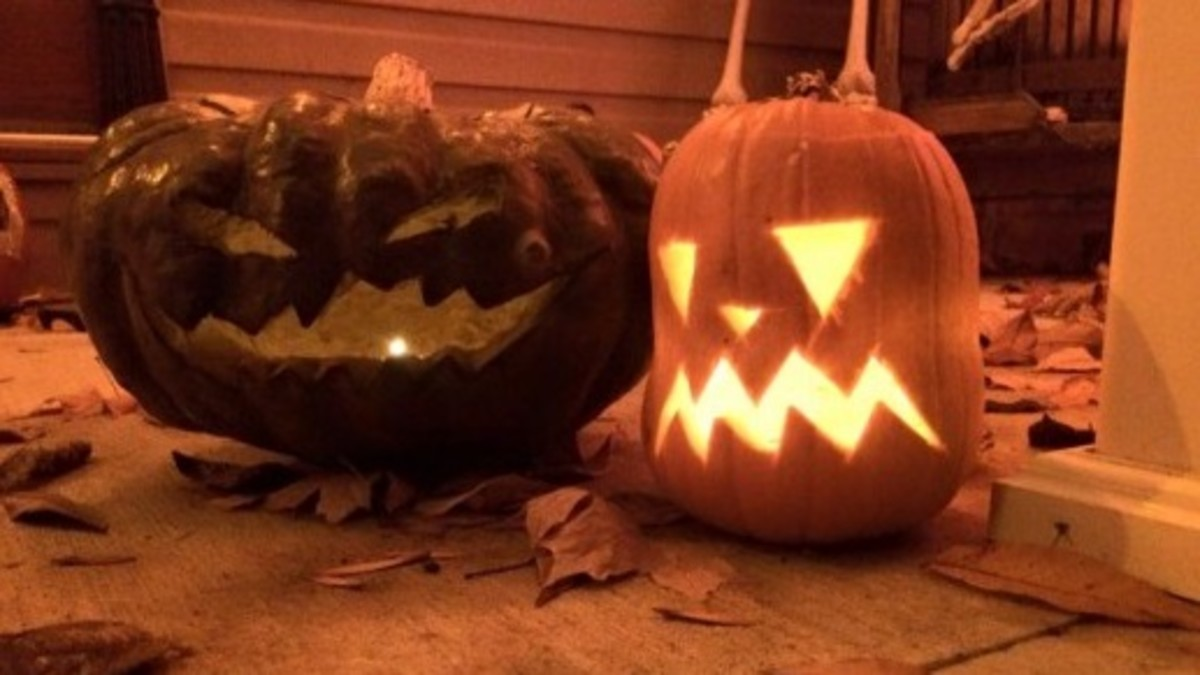 Author's own jack-o-lanterns.