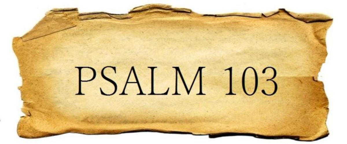 Psalm 103: List of All God's Benefits