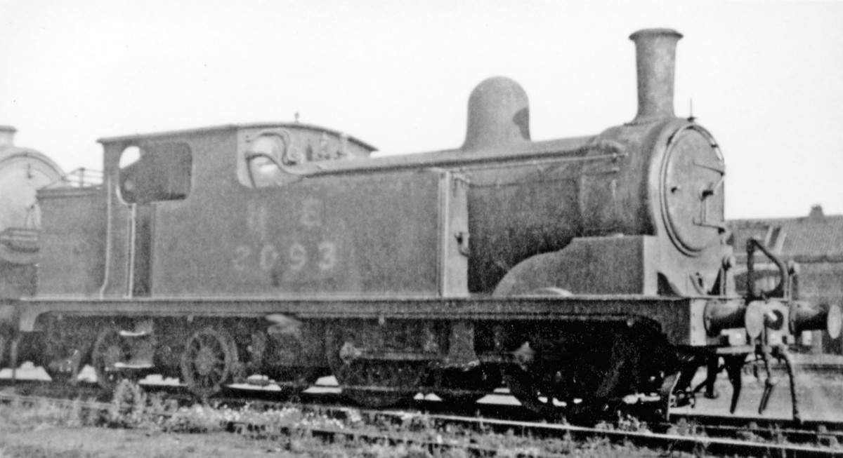 The LNER North Eastern Region loaned a number of locomotives to the heavily beset Eastern Region, 2093 amongst them. She looks careworn in this shot taken at Stratford (East London) locomotive shed in 1946