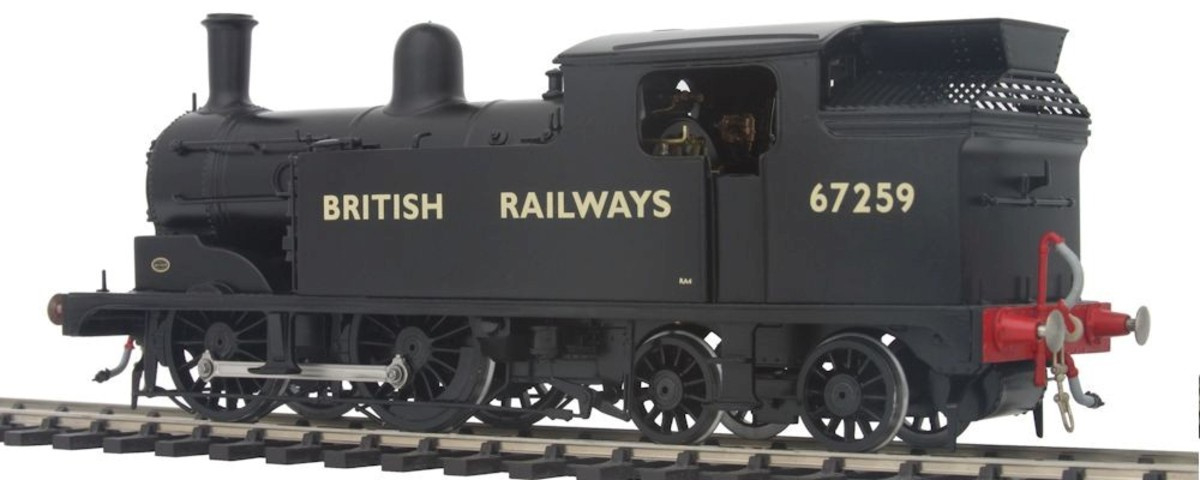 In 1948 after Nationalisation there were many that didn't receive the new standard livery. Those that passed through works at the time did, with straw-coloured Gill Sans lettering and numbering on plain unlined black - extended hopper-type bunker