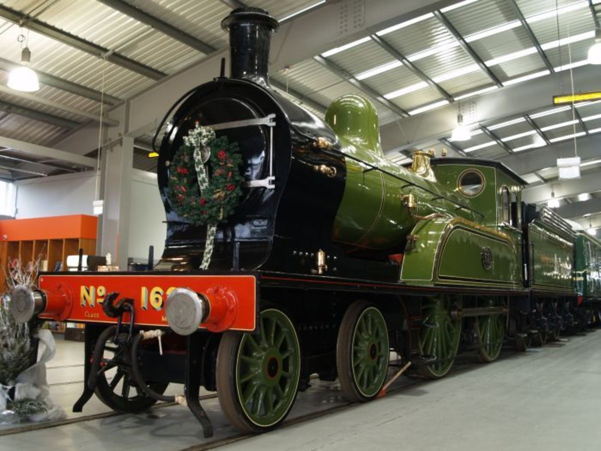 Class M1 (LNER D17) preserved by the National Railway Museum (NRM) seen here in the exhibition hall at 'Locomotion', Shildon - similarities to class O in lining evident