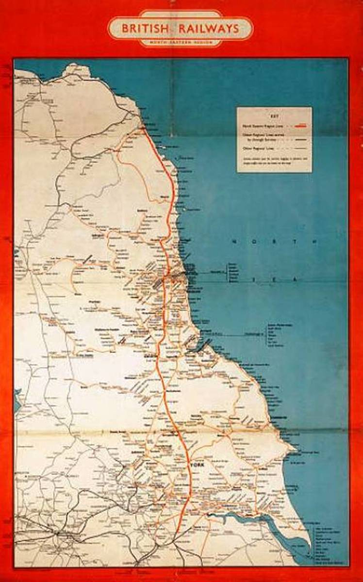 The North Eastern Railway, LNER/NE and bounds of British Railways North Eastern Region